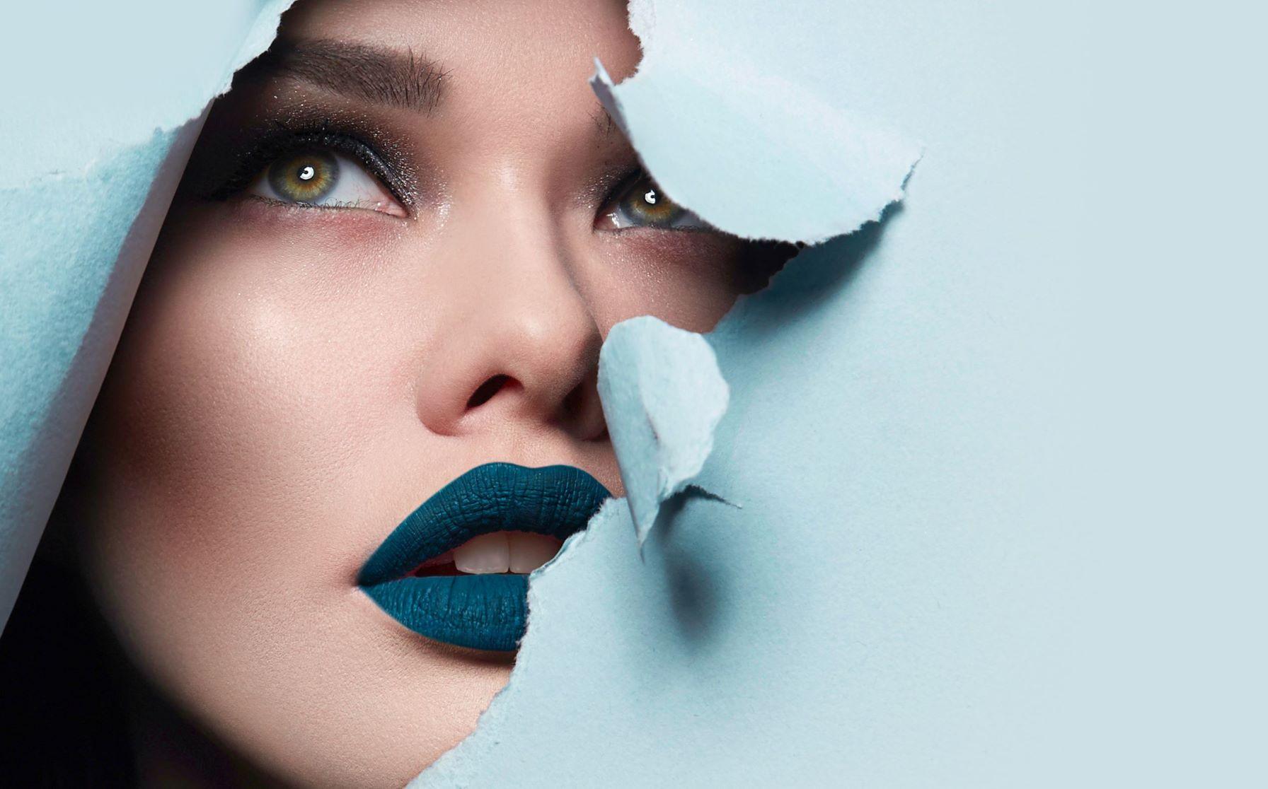 Lady wearing makeup