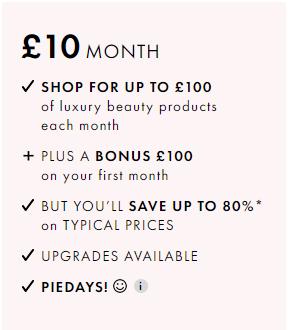 Beauty Pie £10 a Month